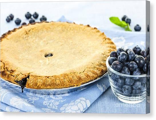 Blueberries Canvas Print - Blueberry Pie by Elena Elisseeva