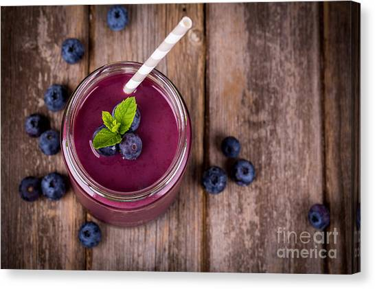 Smoothie Canvas Print - Blueberry Smoothie by Jane Rix