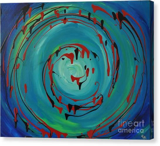 Blueberry Swirls Canvas Print