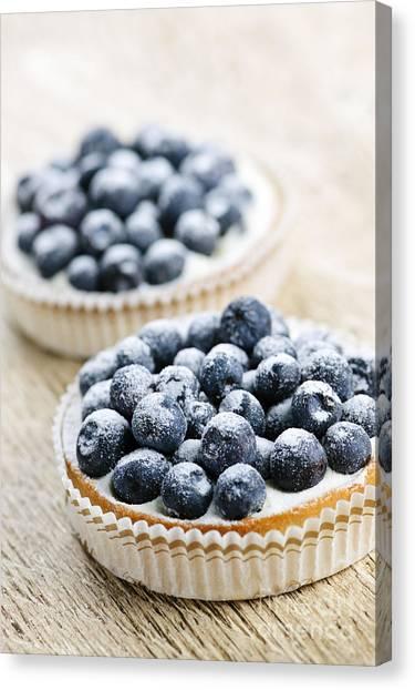 Blueberries Canvas Print - Blueberry Tarts by Elena Elisseeva
