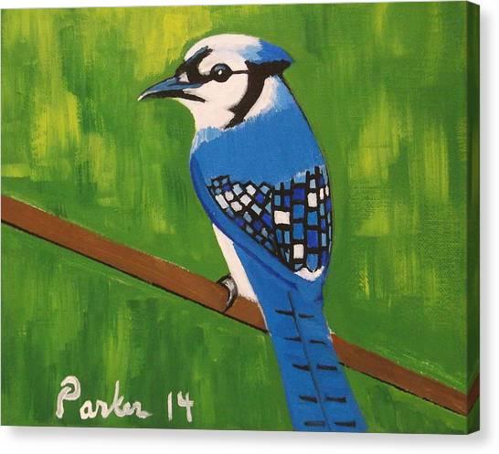 Bluebirds Canvas Print - Bluebird by Don Parker