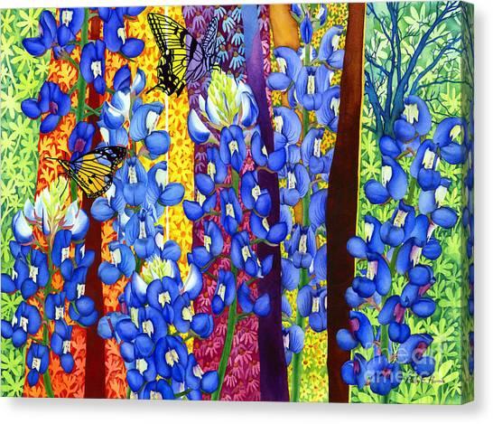 Bluebonnet Garden Canvas Print