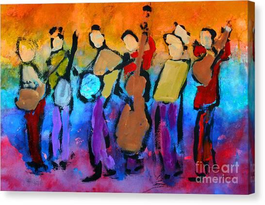 Bluegrass Band Canvas Print