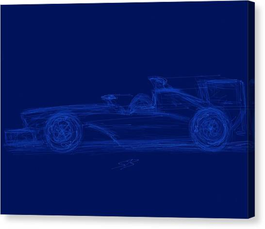 Blueprint For Speed Canvas Print