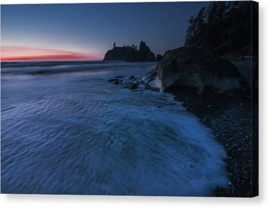 Bluered Canvas Print
