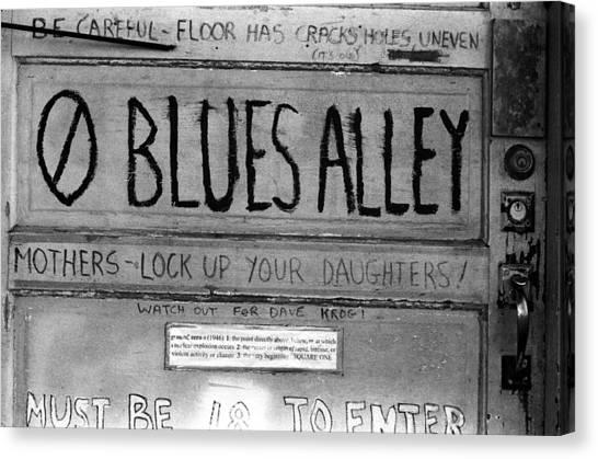 Blues Alley Canvas Print