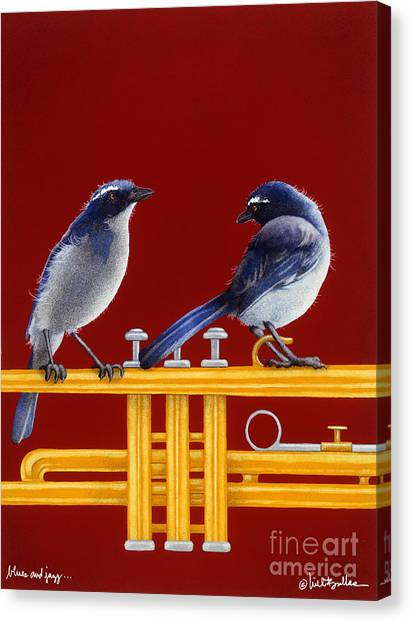 Bluejay Canvas Print - blues and Jazz... by Will Bullas
