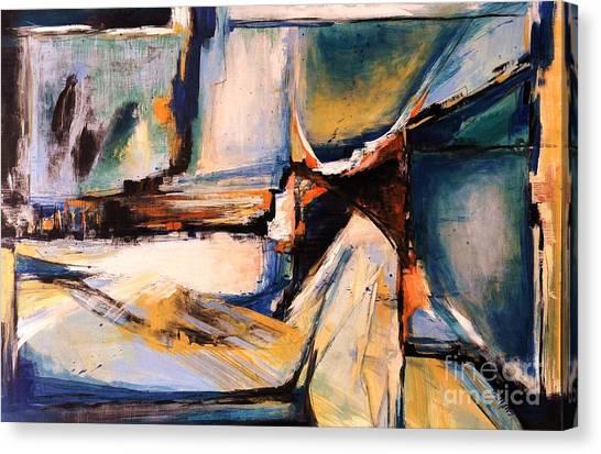 Blues And Orange Canvas Print