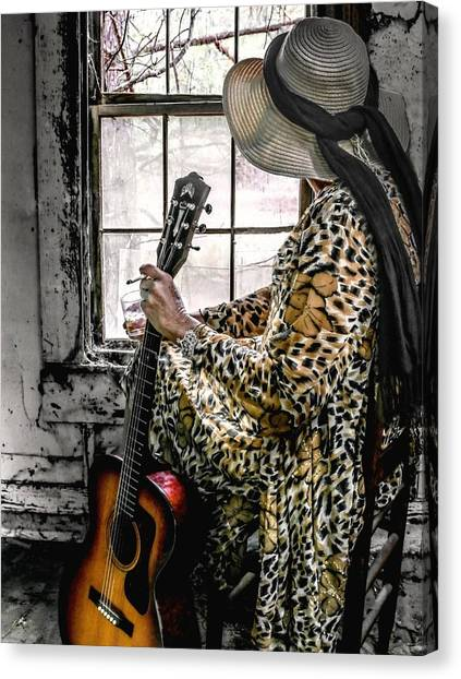 Blues Broad Color Canvas Print by EG Kight