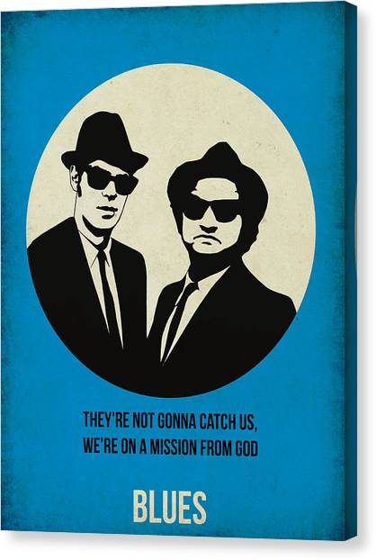 Tv Shows Canvas Print - Blues Brothers Poster by Naxart Studio