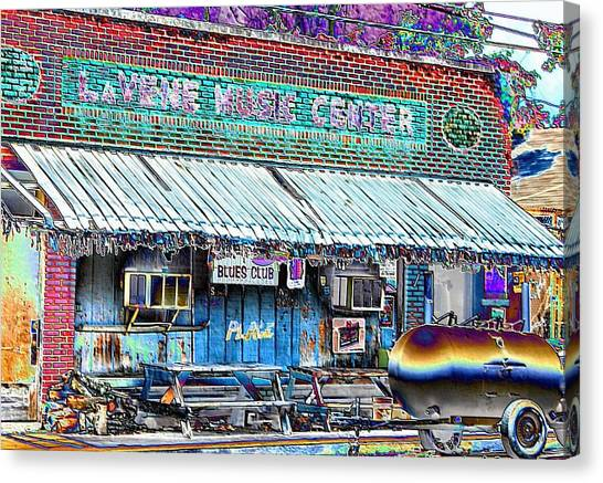 Blues Club In Clarksdale Canvas Print