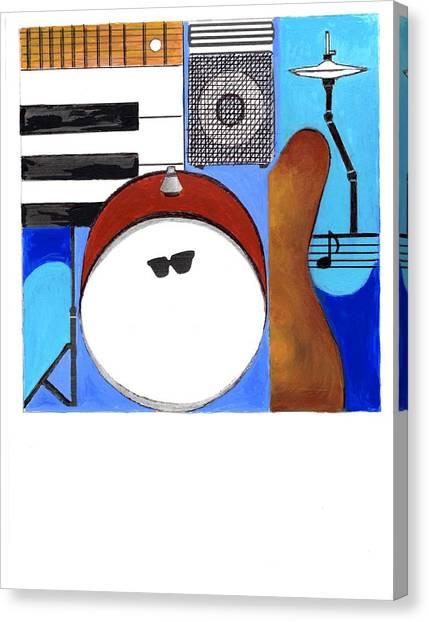 Blues Concept 1 Canvas Print