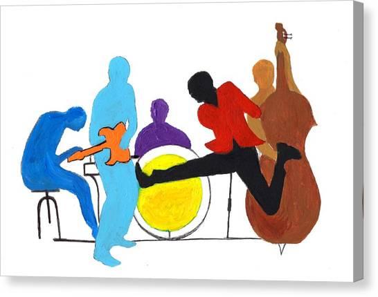 Blues Concept 2 Canvas Print