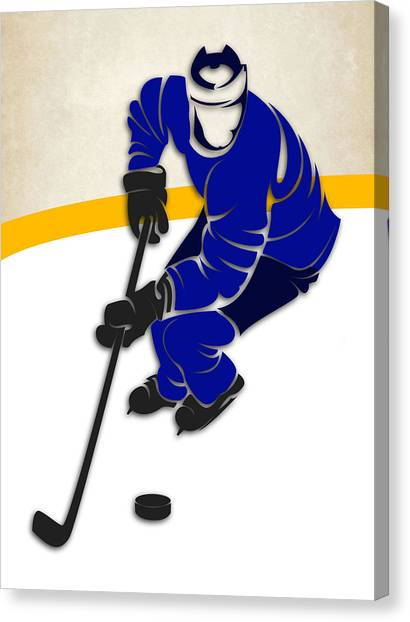 St. Louis Blues Canvas Print - Blues Hockey Rink by Joe Hamilton