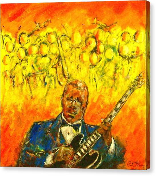 Blues Man Canvas Print by Aaron Harvey