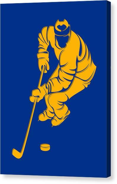St. Louis Blues Canvas Print - Blues Shadow Player3 by Joe Hamilton