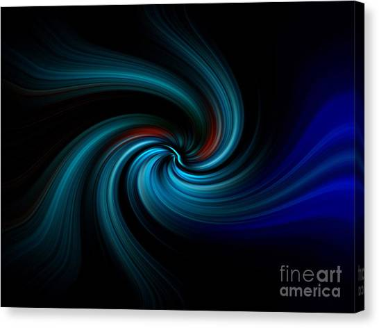 Blues Swirl Canvas Print