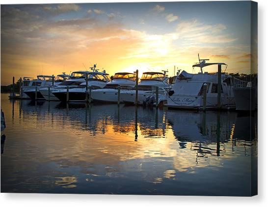 Bluewater Sunset Canvas Print