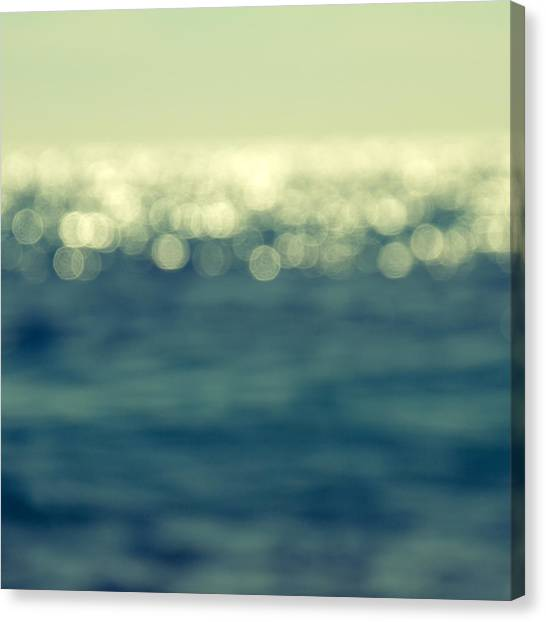 Beach Holiday Canvas Print - Blurred Light by Stelios Kleanthous