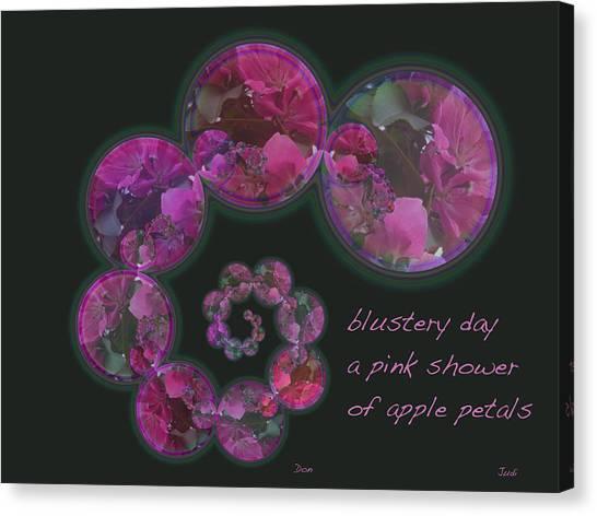 Blustery Day Haiga Canvas Print