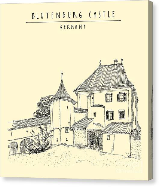 German Canvas Print - Blutenburg Castle Near Munich, Bavaria by Babayuka