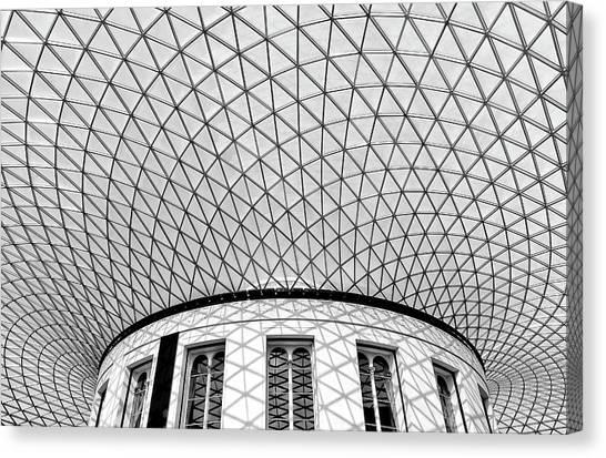 The British Museum Canvas Print - Bm by Hans-wolfgang Hawerkamp