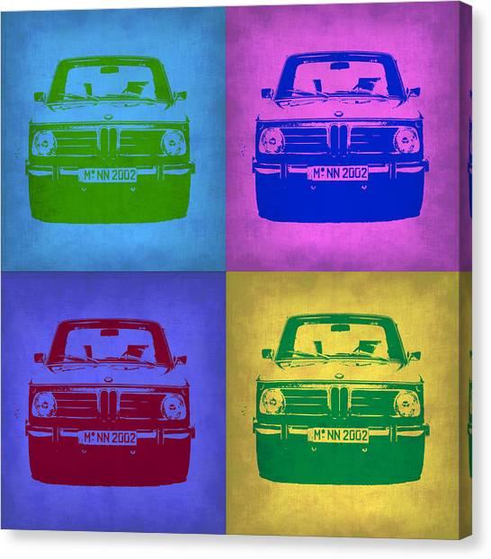 Bmw Canvas Print - Bmw 2002 Pop Art 3 by Naxart Studio