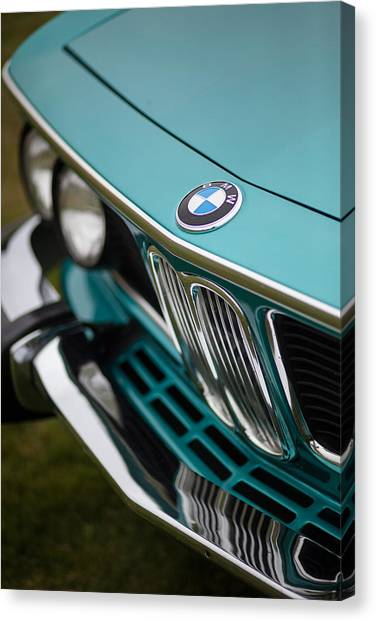 Audi Canvas Print - Bmw 3.0 Cs Front by Mike Reid