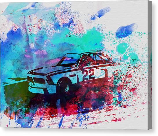 Bmw Canvas Print - Bmw 3.0 Csl  by Naxart Studio