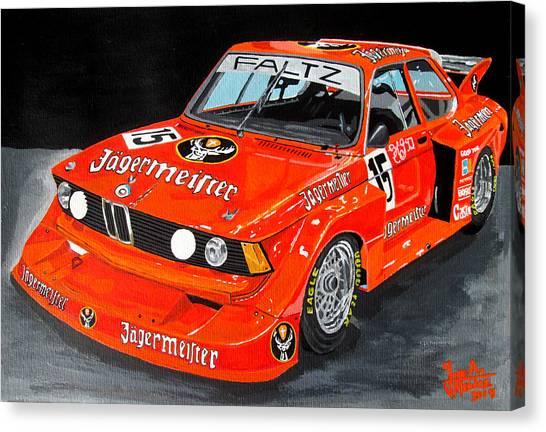Bmw 320 Canvas Print by Jose Mendez