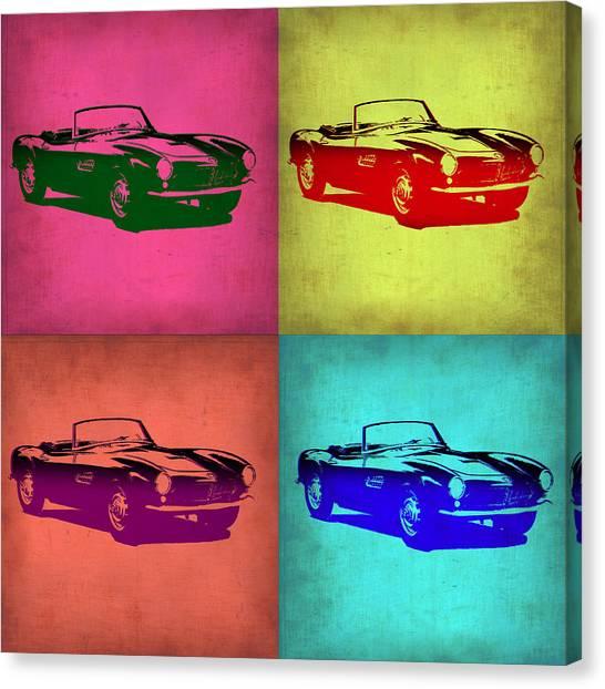 Bmw Canvas Print - Bmw 507 Pop Art 1 by Naxart Studio