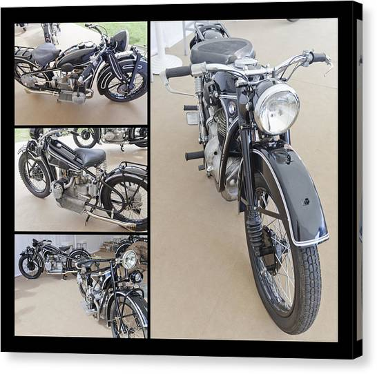 Bmw Art Deco Bikes Canvas Print
