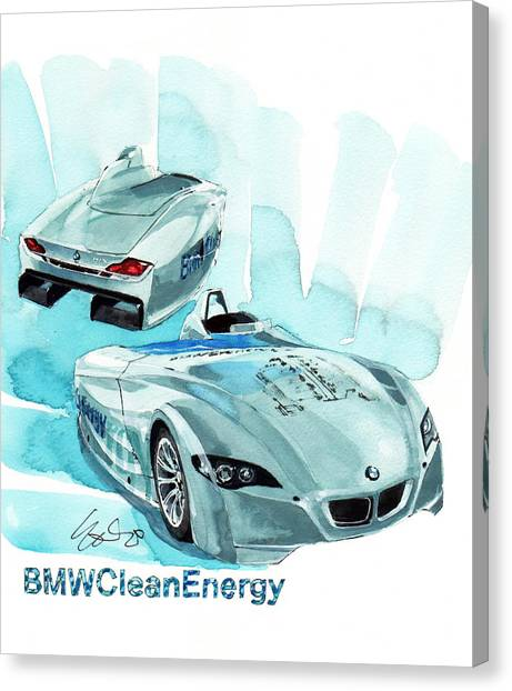 Clean Energy Canvas Print - Bmw Concept Car by Yoshiharu Miyakawa