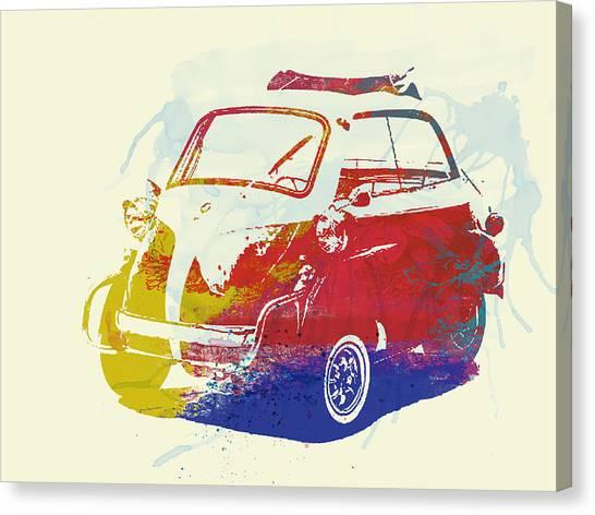 Bmw Canvas Print - Bmw Isetta by Naxart Studio