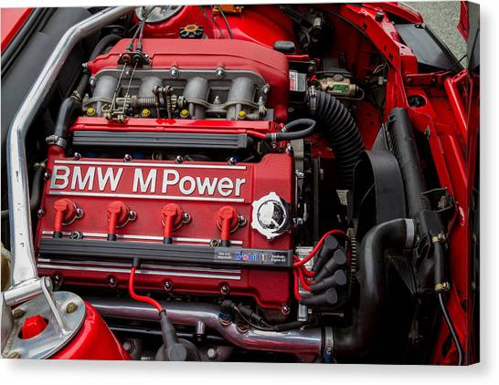Bmw M Power Engine Canvas Print