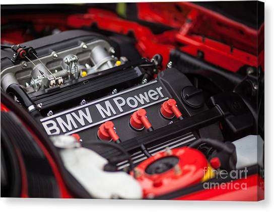 Motoring Canvas Print - Bmw M Power by Mike Reid