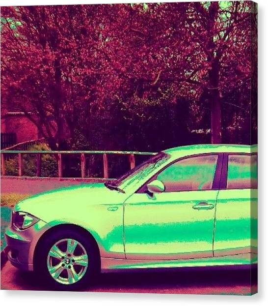 Floss Canvas Print - •bmw S1 Red/green Edit•  #bmw #red by Candy Floss Happy