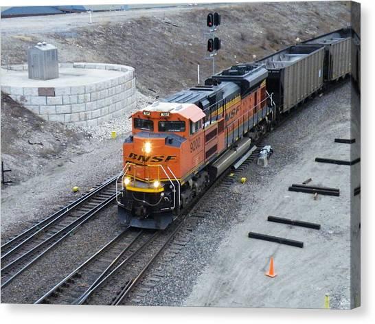 Bnsf Kc Rail Yards Canvas Print