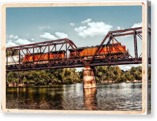 Bnsf Over The Meramec Canvas Print