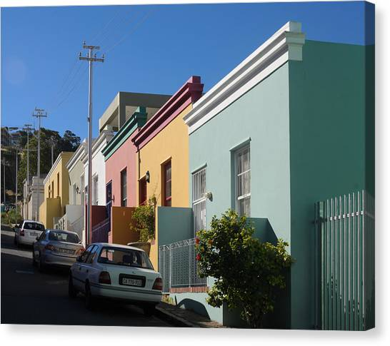 Bo Kaap Houses Canvas Print