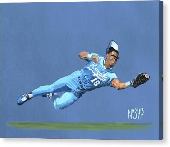 Kansas City Royals Canvas Print - Bo Knows Defense by Jeremy Nash