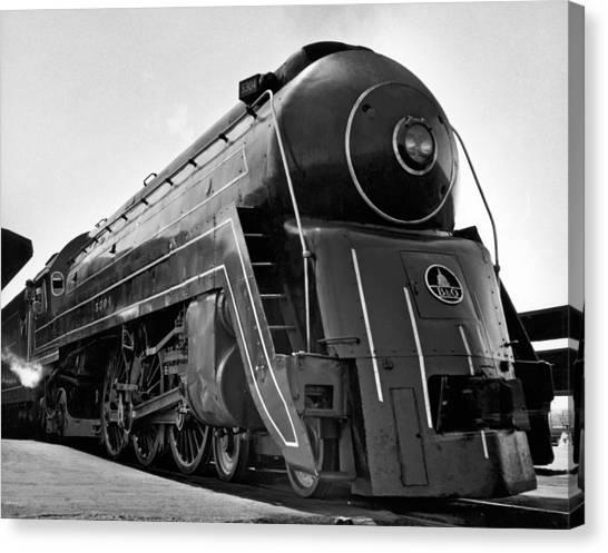 Utility Canvas Print - B&o Locomotive, cincinnatian by Underwood Archives