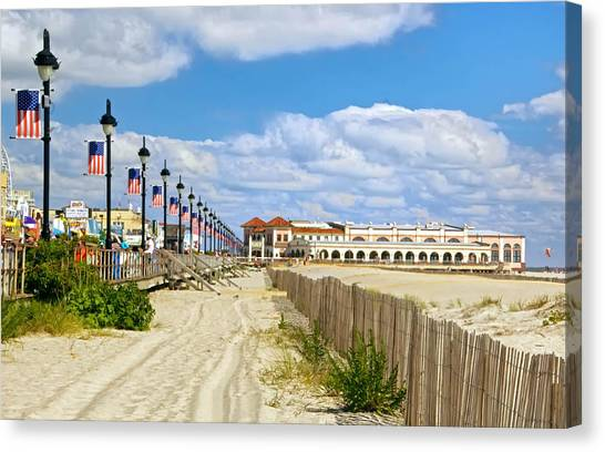 Boardwalk And Music Pier Canvas Print