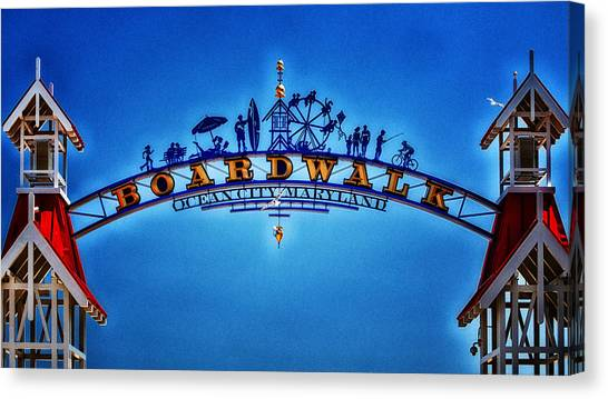 Boardwalk Arch In Ocean City Canvas Print