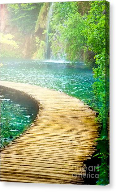 Boardwalk Art Canvas Print by Boon Mee