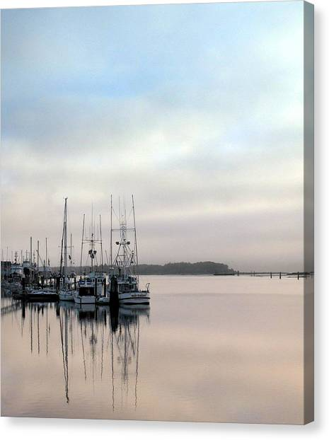 Boardwalk Boats Canvas Print