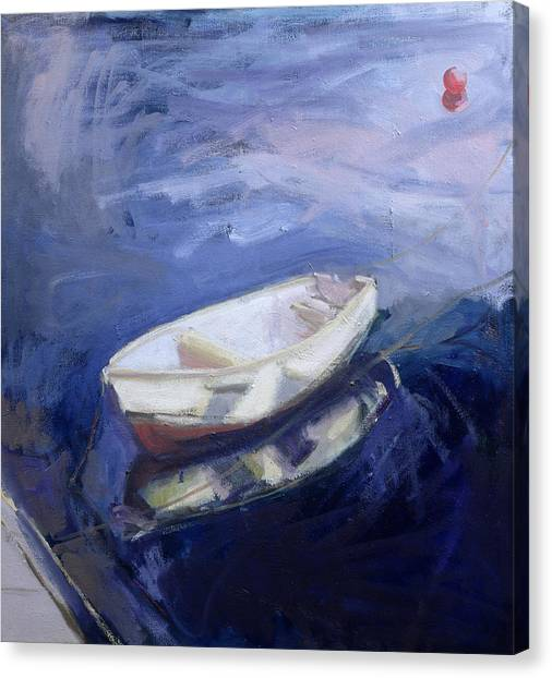 Blending Canvas Print - Boat And Buoy by Sue Jamieson