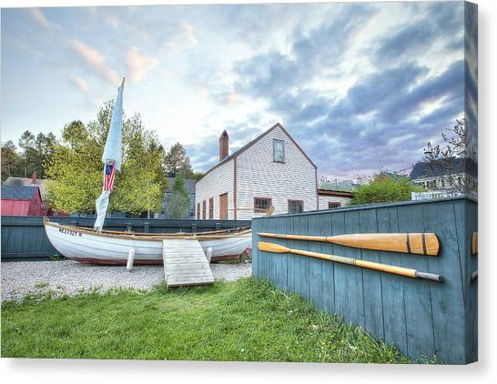 New England Revolution Canvas Print - Boat And Oars by Eric Gendron