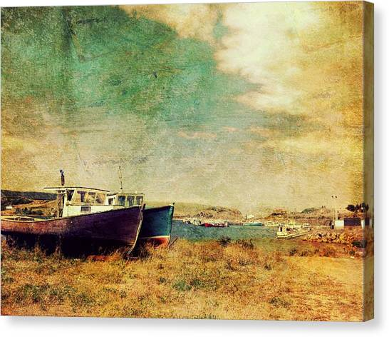 Boat Dreams On A Hill Canvas Print