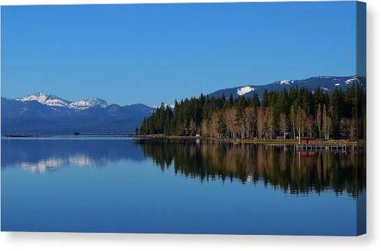 Boat House Lake Tahoe Canvas Print